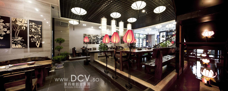 渭南-周和茗茶中式茶秀餐厅设计