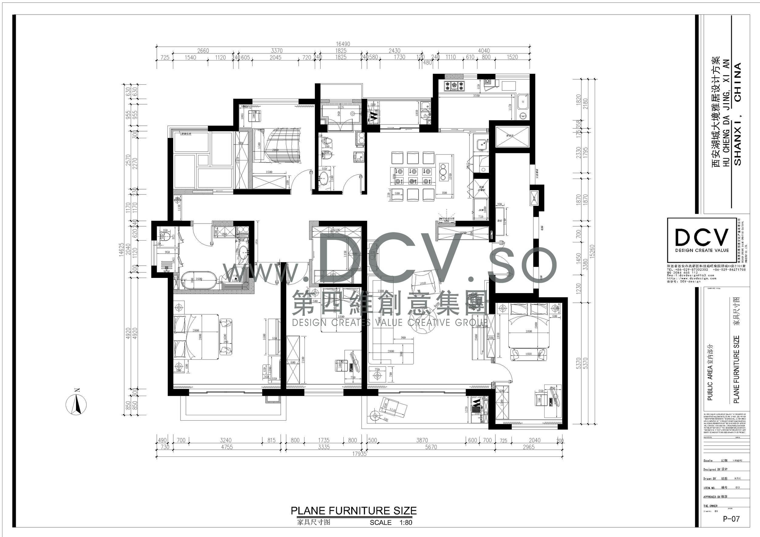 矩形别墅户型图
