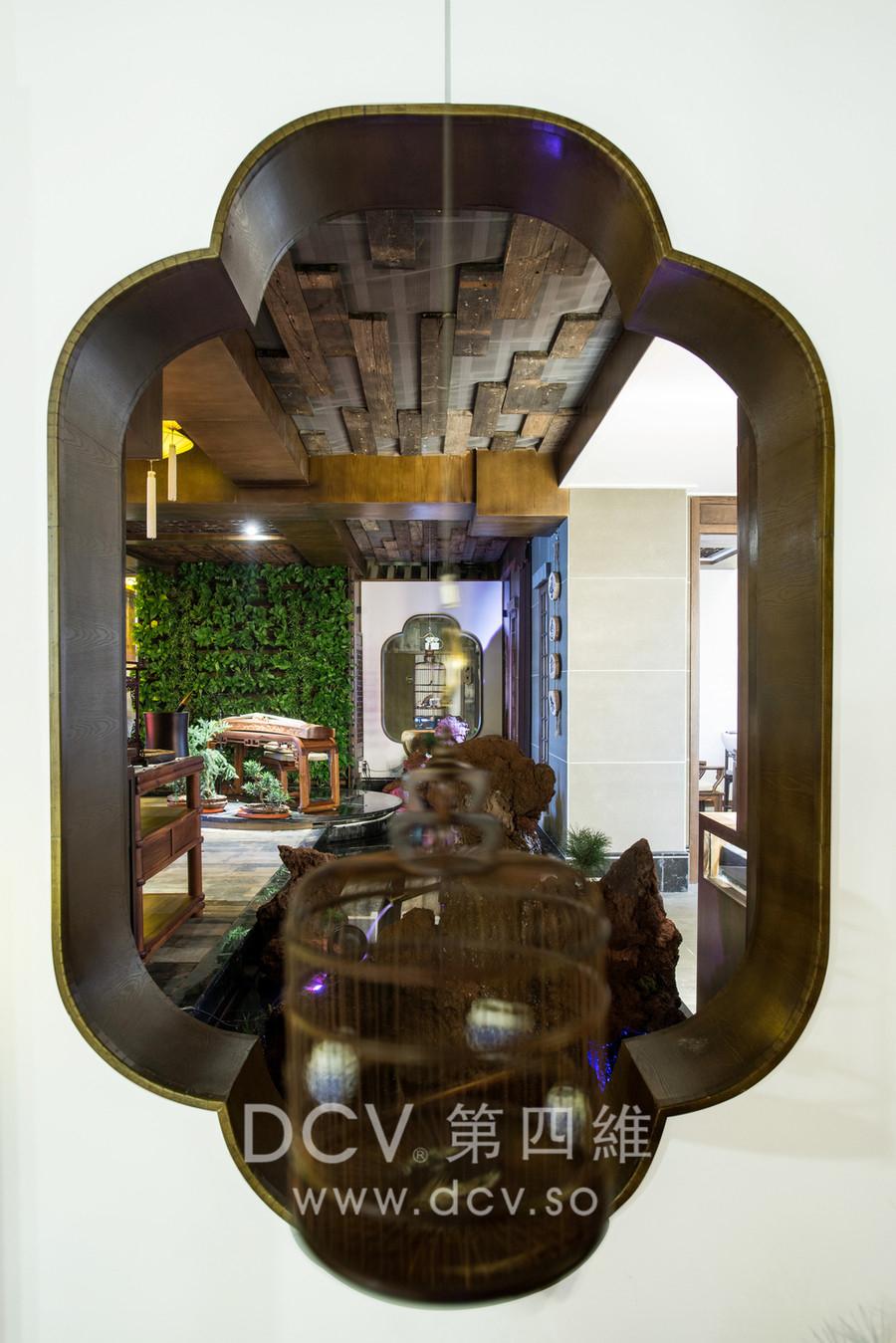 宝鸡-青阶茶室会所新中式主题餐厅室内装修设计